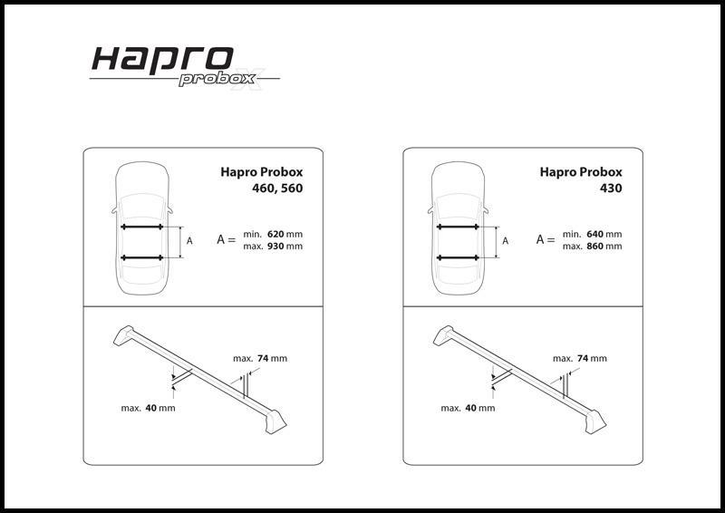 Super Hapro Probox 560-490 liter dakkoffers-skiboxen verkoop voor uw WX-77